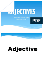 ADJECTIVES power point English Four 2019