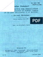 IS 1255  1983 Code of practice for installation and maintenance of power cables upto and includin.pdf
