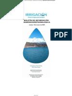 Boletín de Información Hidronivometeorológica 14-01-20