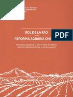 ROL DE LA FAO EN LA REFORMA AGRARIA DE CHILE