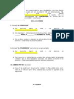 BORRADOR CONTRATO PRIVADO DE COMPRAVENTA VEHICULO