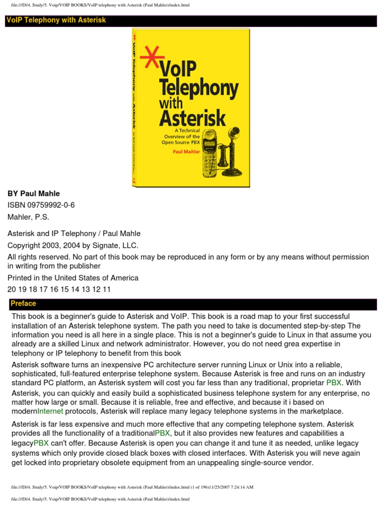 Voip Telephone Withn Asterisk Paul Mahler Voice Over Ip Telephone