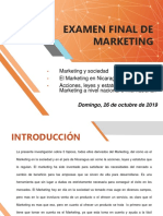 EXAMEN FINAL DE MARKETING