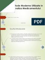 Metode Moderne Utilizate in Analiza Medicamentului