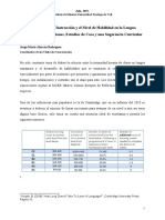 Los Tiempos de Instrucción y el Nivel de Habilidad en la Lengua Extranjera_ Síntesis de Suposiciones y Estudios de Caso