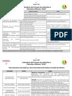 Calendario Admision Sedena 2020