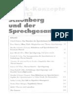 Schönberg und der Sprechgesang