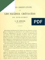 ARNAUD 1893 Salenia Cretacees Sudouest Fr