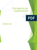 CONCEPTOS BÁSICOS DE PLANIFICACIÓN