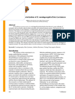 Cloning and Characterization of E. meningoseptica Beta Lactamase