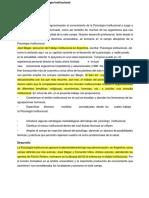 Psicología Institucional - Vitale Mendez