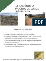 PLANIFICACIÓN DE LA RESTAURACIÓN DE UN ESPACIO DEGRADADO