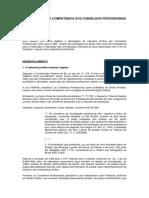 A LEGALIDADE E A COMPETÊNCIA DOS CONSELHOS PROFISSIONAIS