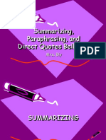 Summarizing, Paraphrasing, And Using Direct Quotes 2019 (2)