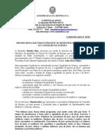 Mb - Comunicado 19-XI - Mendes Bota Discursou Perante Os Ministros Da Igualdade Do Conselho Da Europa
