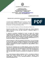 MB - COMUNICADO 25-XI - MENDES BOTA QUESTIONA APLICAÇÃO DO MAPA JUDICIÁRIO NO ALGARVE