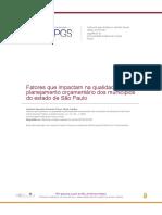 Fatores que impactam na qualidade do planejamento orçamentário dos municípios do estado de São Paulo
