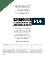 Entrevista a Rosa Conde en El Dominical del Periódico de Catalunya