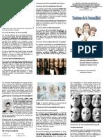 Triptico Trastorno de la Personlidad - Psicologia General - 1ro Enfermeria