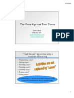 Against Test Cases