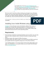 Install Linux Inside Windows Using VirtualBox
