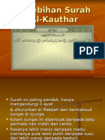 KelebihanSurahAl-Kauthar