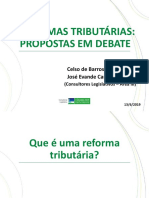 Reformas Tributárias Propostas em debate
