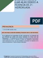 DESORDEN DE DIFERENCIACION SEXUAL TESTICULAR 46,XX DEBIDO A.pptx