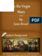To the Virgin Mary & Our Mother Tongue by Jose Rizal