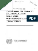 La Industria del Petróleo en América Latina