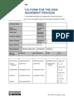 Sample Form Risk Management Process
