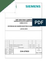 CHI-27933 - criterios de diseño de subestaciones - Rev B