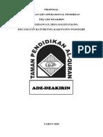 Form Ajuan TPQ Adz Dzakirin