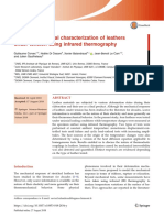 Thermomechanical characterization of leathers under tension using infrared thermography