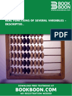 Leif Mejlbro - Real Functions of Several Variables Examples of Description of Surfaces Partial Derivatives, Gradient, Directional Derivative and Taylor's Formula Calculus 2c-2 (2007)