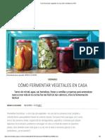 Cómo fermentar vegetales en casa _ El Comidista EL PAÍS