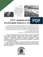 1917 - Sionisti Ed Ebrei Tra Grande Guerra e Rivoluzione
