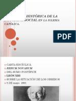 DIMENSIÓN HISTÓRICA DE LA DOCTRINA SOCIAL