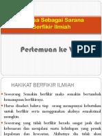 Bahasa Sebagai berfikir Ilmiah-1.pptx