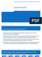 Business Mentorship Program