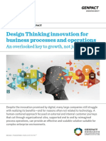 Design Thinking Innovation for Business Processes and Operations an Overlooked Key to Growth Not Just Cost