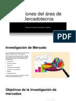 Funciones del área de Mercadotecnia