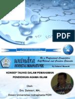 Presentation Pendidikan Agama I Tatap Muka 2 UNINDRA 2014