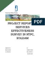 Services Effectiveness report