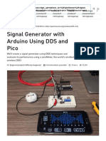 Signal Generator with Arduino Using DDS and Pico - Hackster.io