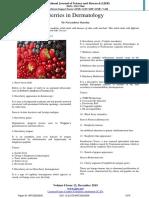 Berries in Dermatology