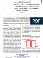 Design of a High Selectivity Quadband Bandpass Filter Based on Open Loop Stub Loaded Resonator for UMTS, WLAN, Wimax and ITU Applications