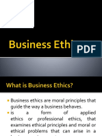 Business Ethics Day 1