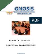 Cours de Gnosis - Leçon 11