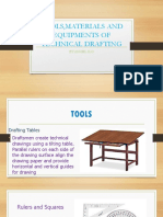 TOOLS,MATERIALS AND EQUIPMENTS OF TECHNICAL DRAFTING
